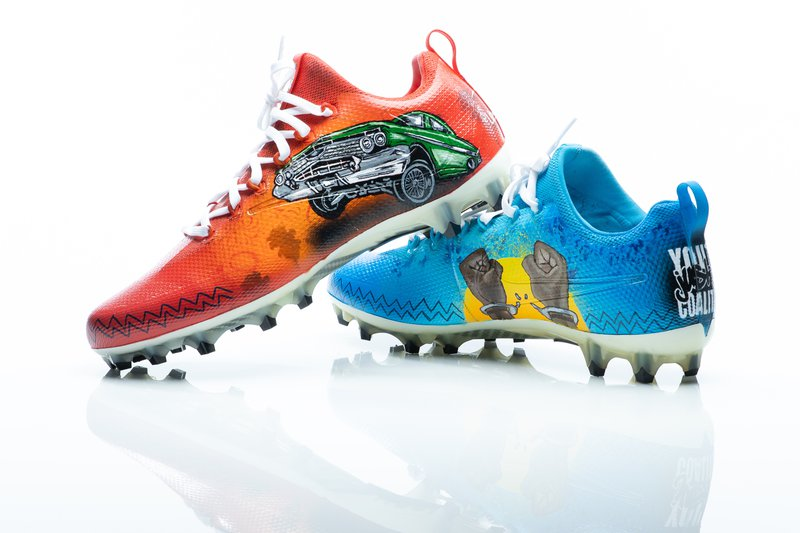Chargers Cleats Project.JPG